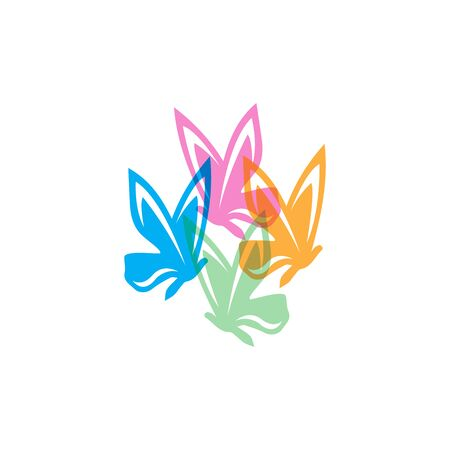 Beauty Butterfly Logo Template Vector icon design Archivio Fotografico - 138371726