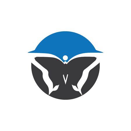 Beauty Butterfly Logo Template Vector icon design Archivio Fotografico - 138371727