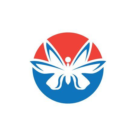 Beauty Butterfly Logo Template Vector icon design Archivio Fotografico - 138371730