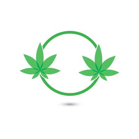 Canabis leaf vector illustration icon design