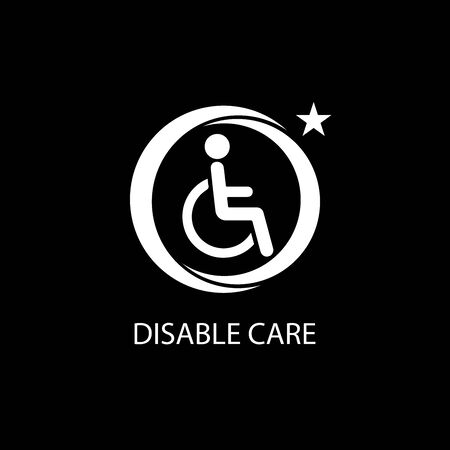 Disabled icon illustration isolated vector sign symbol