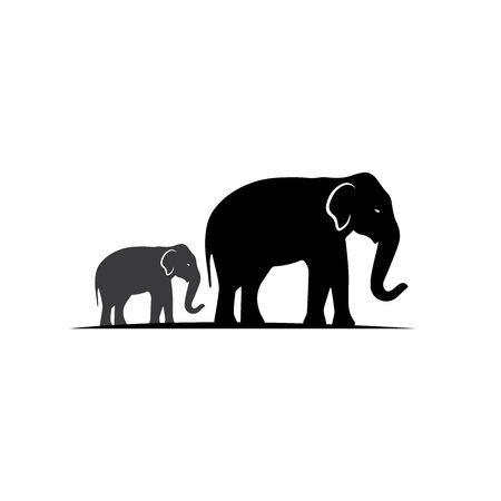 Elephant Logo Template Vector Illustration design Иллюстрация