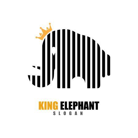 Elephant Logo Template Vector Illustration design 矢量图像