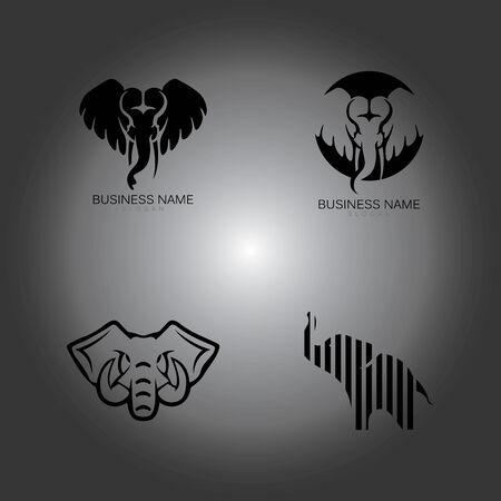 Elephant Logo Template Vector Illustration design Logos