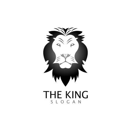 lion head logo template vector icon Banque d'images - 140500115