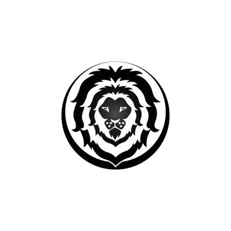 lion head logo template vector icon Banque d'images - 140701427