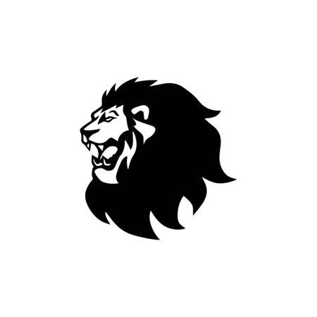 lion head logo template vector icon Banque d'images - 140701438