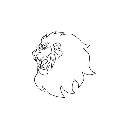 lion head logo template vector icon Banque d'images - 140500160