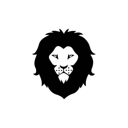 lion head logo template vector icon Banque d'images - 140500162