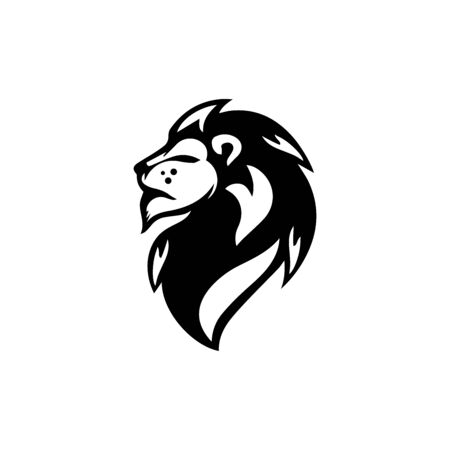 lion head logo template vector icon Banque d'images - 140500166