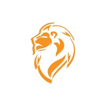 lion head logo template vector icon Banque d'images - 140500167
