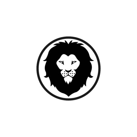 lion head logo template vector icon Banque d'images - 140500170