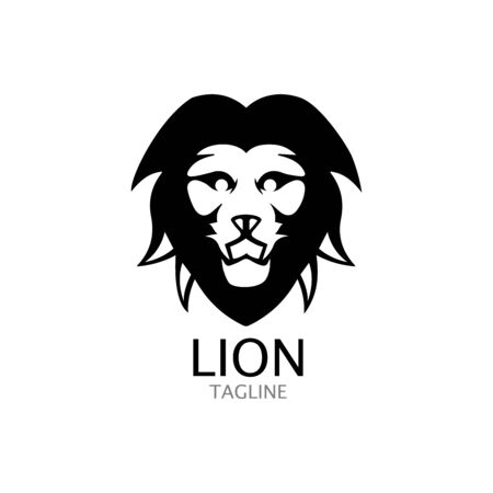 lion head logo template vector icon Banque d'images - 140500177