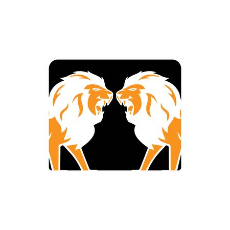 lion head logo template vector icon Banque d'images - 140701444