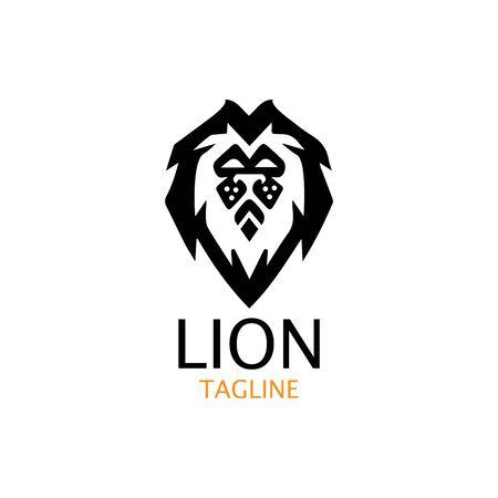 lion head logo template vector icon Banque d'images - 140701449
