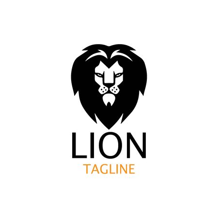 lion head logo template vector icon Banque d'images - 140701458