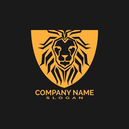 Lion Logo Template vector icon illustration design