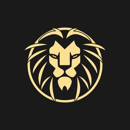 lion head logo template vector icon Logo
