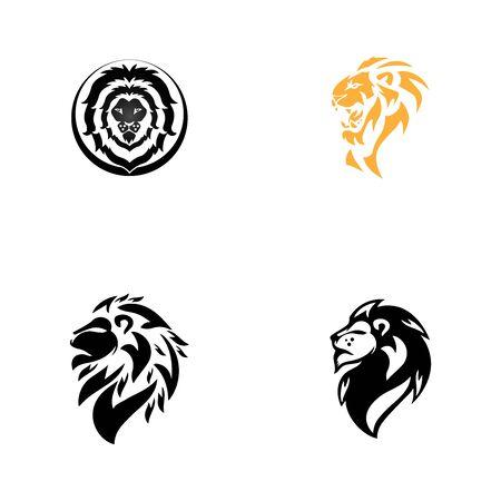 lion head template vector icon