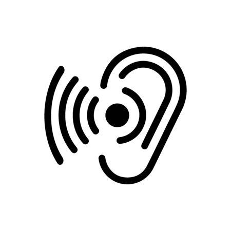 Hören Logo Vorlage Vektor Icon Design Logo
