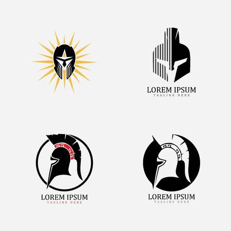 Gladiator mask , Spartan helmet logo template vector icon design