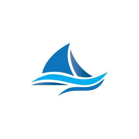 bateau de croisière Logo Template vecteur icône design