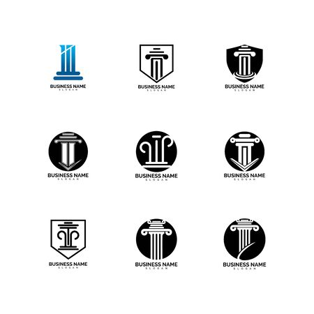 pillar Logo vector Template illustration design Illusztráció