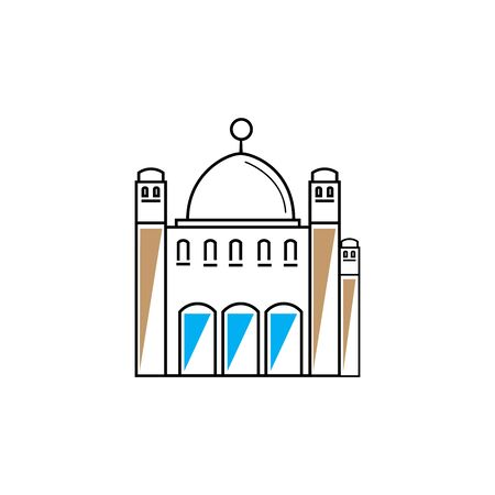 islamic mosque logo vector icon template