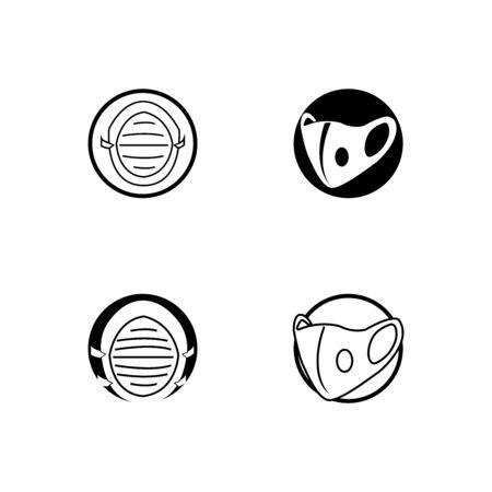 vector mask icon illustration template design