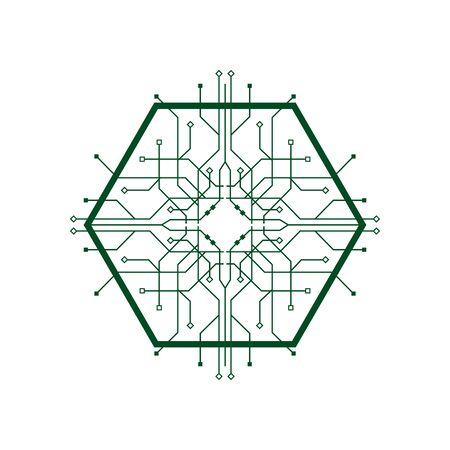 circuit logo template vector icon illustration design