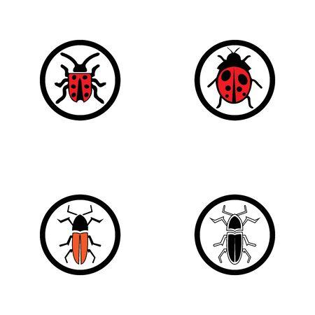 bug vector illustration icon design template