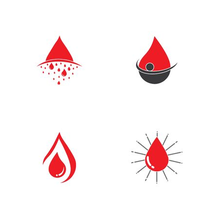 Human Blood logo template vector icon illustration design