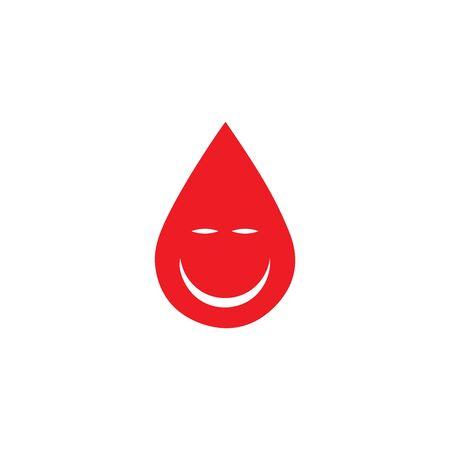 Human Blood logo template vector icon illustration design