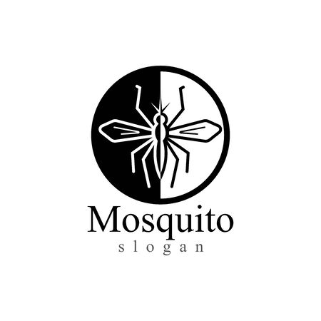 Mosquito insect animal logo vector illustration template
