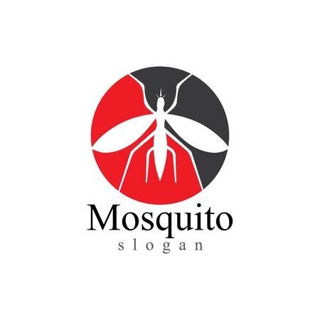 Mosquito insect animal logo vector illustration template 向量圖像