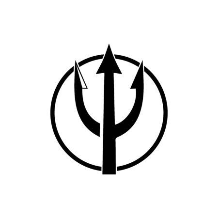 Trident design vector and poseidon icon illustration template