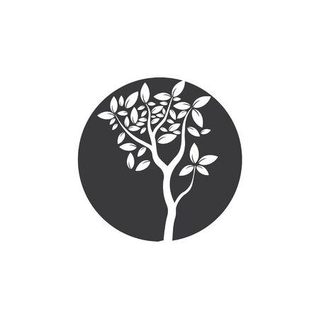 Tree ,hand drawn, illustration of Olive tree design template