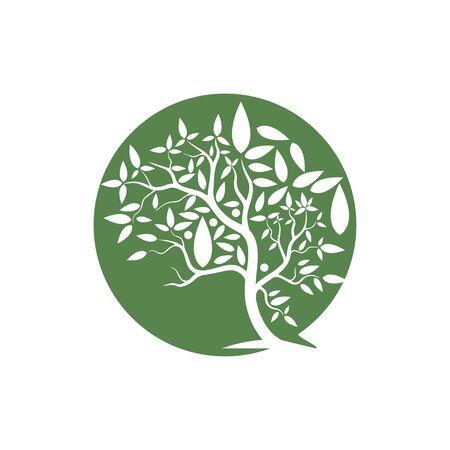 hand drawn illustration of  Olive tree design template Vettoriali