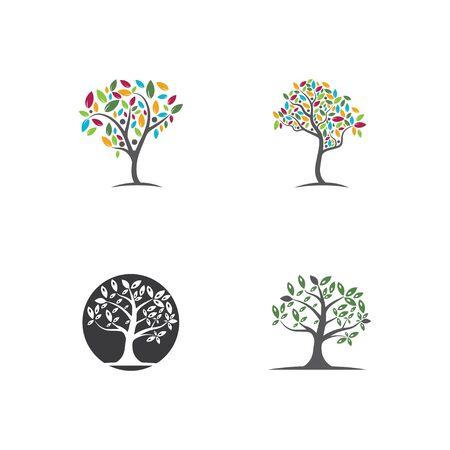 Tree, hand drawn, illustration of  Olive tree  design template Vettoriali