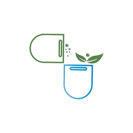 Pharmacy icon , Herbal pharmacy symbol , Pestle and Mortar illustration design template