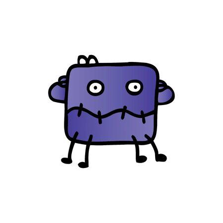 Cute cartoon monster. Vector funny monster character illustration design Ilustrace