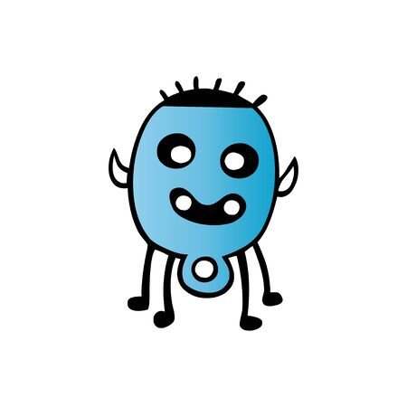 Cute cartoon monster. Vector funny monster character illustration design Ilustração