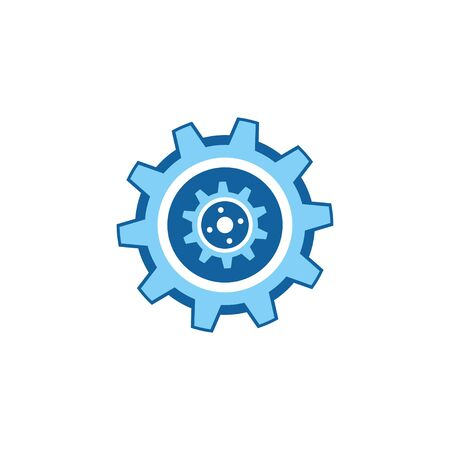 Gear Logo Template vector icon illustration design Banque d'images - 147903264