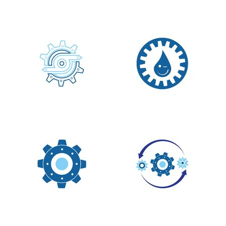 Gear Logo Template vector icon illustration design Banque d'images - 147903275