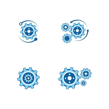 Gear Logo Template vector icon illustration design Banque d'images - 147903301