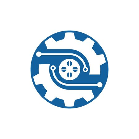 Gear Logo Template vector icon illustration design Banque d'images - 147903410
