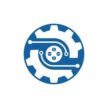 Gear Logo Template vector icon illustration design Illustration