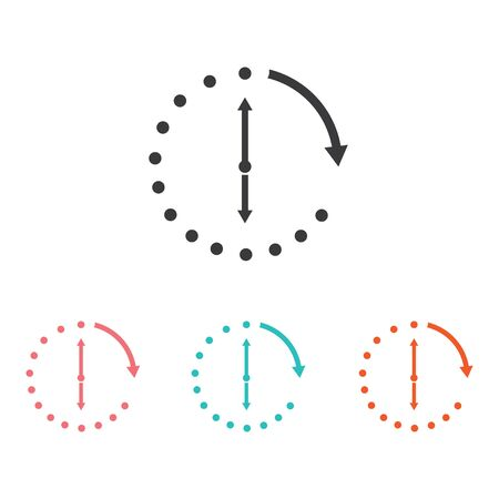 Time vector icon , 24 Hour icon vector illustration design template