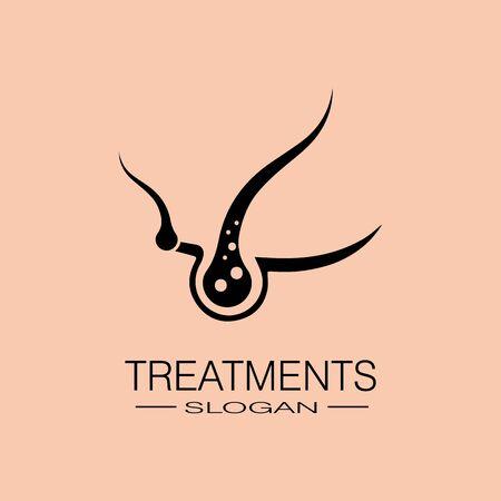 Hair treatments icon illustration template design Illustration