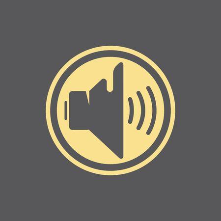 Megaphone Volume Audio Speaker waves illustration design template